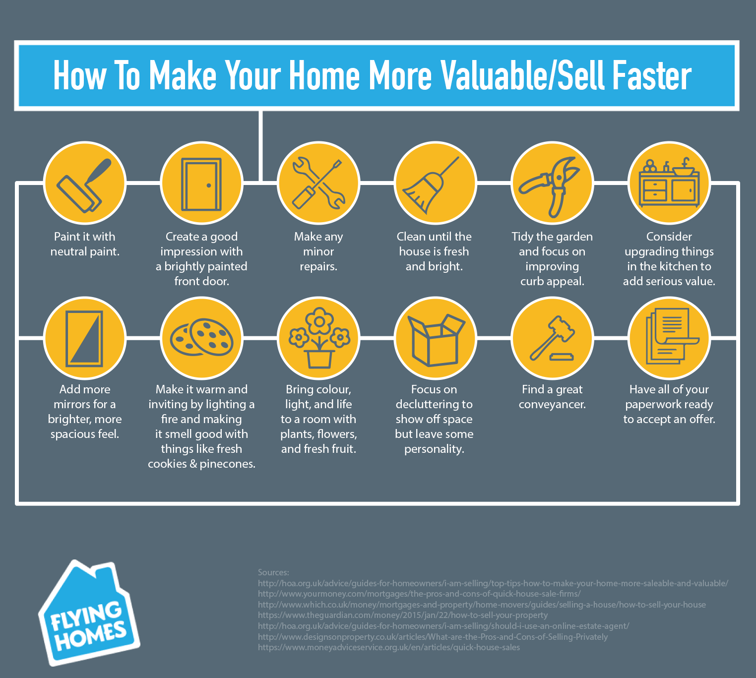 12 tips to increase home values sell faster flying homes for How to increase home value