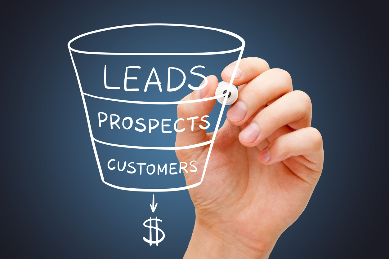 Property Leads - Sales Funnel Marketing Concept