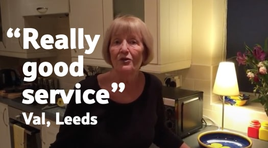 really good service, Val, Leeds