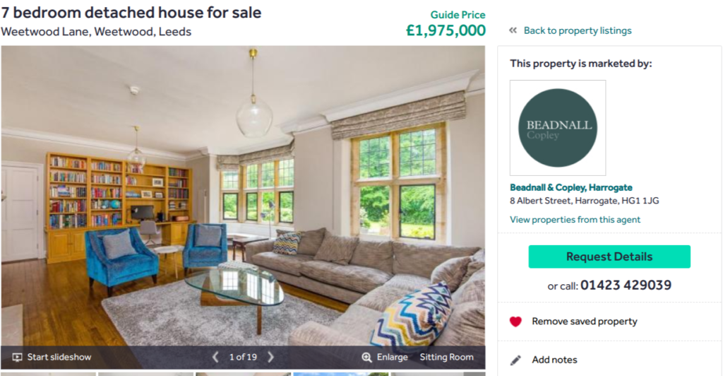 Rightmove 'Saved property' tab