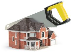 Property rights - a saw splitting house